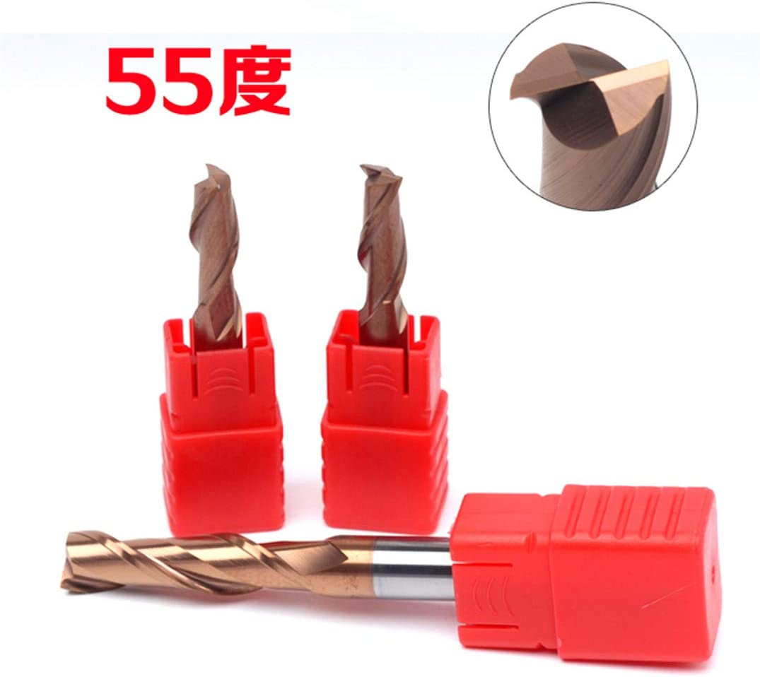 HRC55 Double Edge Cutters Keyway Mill 2 Blades Tungsten Alloy Milling Cutter Keyway End Mill Knife Two Blades 12x30x75mm 6x15x50mm
