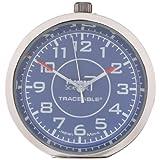 "Thomas 1003 Traceable Stick-It Mini Clock, 1-19/32"" Diameter x 19/64"" Depth"