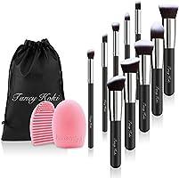 Makeup Brushes Set 10 Pcs Premium Cosmetic Brush Set Soft Synthetic Cosmetici Brush Set Kabuki Foundation Blending Blush Eyeliner Brush