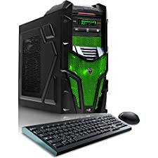 CybertronPC Shockwave X6-9600 Green Gaming Desktop -AMD FX-6300, 16GB DDR3, NVIDIA GTX960, Microsoft Windows 10