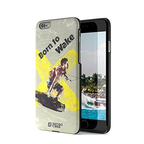 iPhone 6 Case, Born For Wakeboarding. Sensocase Premium Extreme Sports Unique Designer Tough Shell Thin Cover. Luxury, Anti-Fingerprint, Anti-Scratch Stylish Slim Protective Apple Phone Case. by SENSOCASE