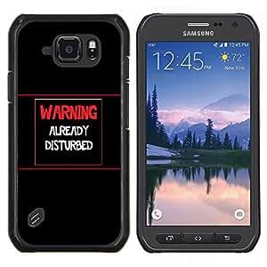 Qstar Arte & diseño plástico duro Fundas Cover Cubre Hard Case Cover para Samsung Galaxy S6Active Active G890A (Advertencia - Ya Disturbed)