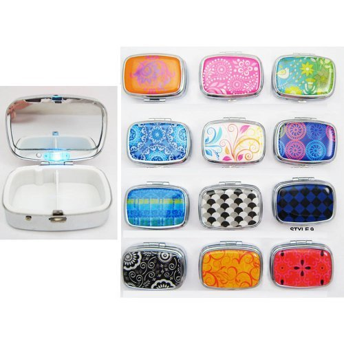 Light Up Led Pill Box Medicine Drug Container Case Holder Pillbox Tablet Gift !! by ATB