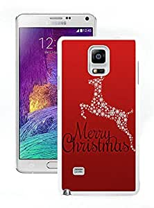 Custom Design Christmas Animals White Samsung Galaxy Note 4 Case 3