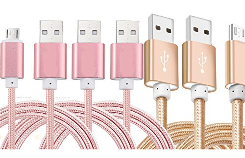 Micro-USB Cable,5Pack Ibarbe 5FT for Amazon Kindle Fire, Touch HD, HDX 8.9