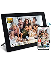 FRAMEO 10.1 Inch Smart WiFi Digital Photo Frame 1920x1200 FHD IPS LCD Touch Screen, Auto-Rotate, 16GB Storage, Support SD Card & USB Drive, Share Moments Instantly via Frameo App from Anywhere