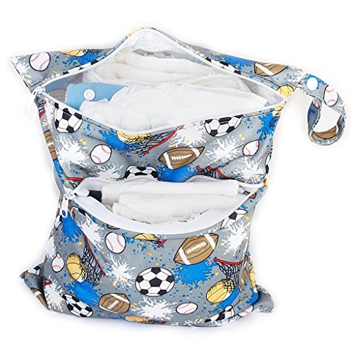 Primi 1pc impermeable reutilizable doble cremallera gamuza de bebé bolsa de pañales
