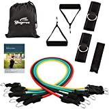 yogree Resistance Band Set – 12 Pack Set Include 5 Stackable Exercise Bands with Carrying Case, Door Anchor Attachment and Legs Ankle Straps – with Exercise Guide Ebook Review