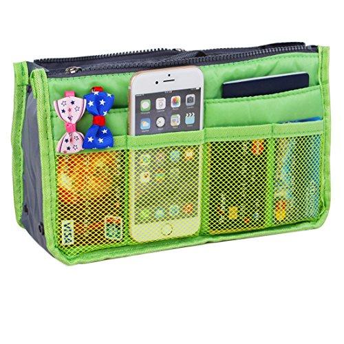 JET-BOND Multi-Pocket Handbag Organizer Liner Pouch Medium Size with Handles (Pocket Handbag Organizer)