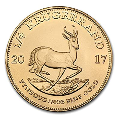 2017 ZA South Africa 1/4 oz Gold Krugerrand Gold Brilliant Uncirculated