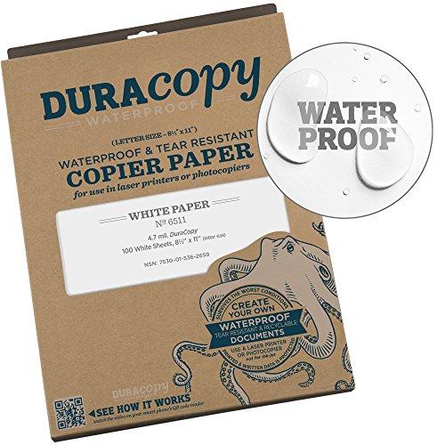 Rite in the Rain Waterproof (DURARITE) Copier Paper, 8 1/2