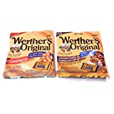 4 Pack of Sugar Free Werther's Candy, 2 Caramel Coffee Hard Candies 70 Grams Each, 2 Caramel Hard Candies 60 Grams Each