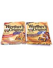 4 Pack of Sugar Free Werther's Candy, 2 Caramel Coffee Hard Candies 70 Grams Each, 2 Caramel Hard Candies 70 Grams Each
