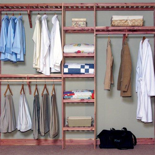 Northern Kentucky Cedar DVSWK0812 Aromatic Red Cedar 8 ft. Deluxe Ventilated Wall - Closet Deluxe Organizer