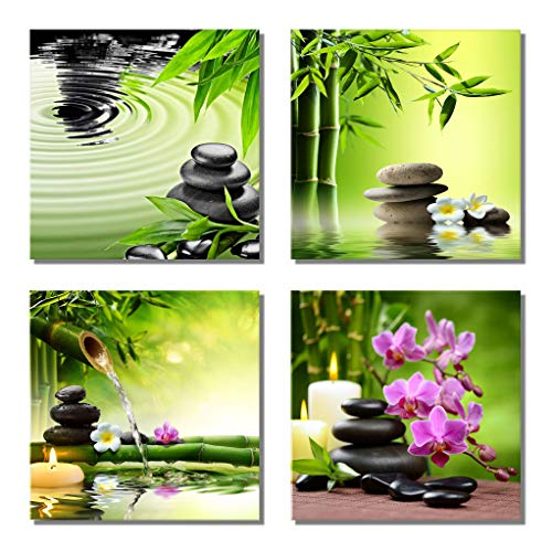 (789Art - Bamboo Zen Canvas Wall Art Spa Artwork for Walls Contemporary Home Decorations for Living Room Office Bedroom Bathroom Modern Decor(12
