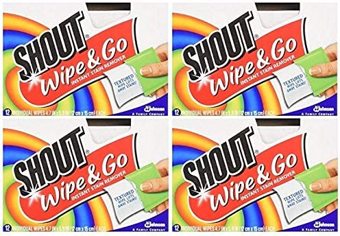 Shout Wipes Portable Treater Towelettes