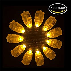 Neo LOONS 100pcs/lot 100 X Led ball lamp balloon light long standby time for Paper Lantern Balloon light party wedding decor,Yellow
