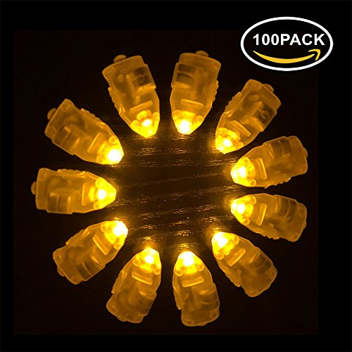 Making Paper Lanterns (Neo LOONS 100pcs/lot 100 X Led ball lamp balloon light long standby time for Paper Lantern Balloon light party wedding decor,Yellow)