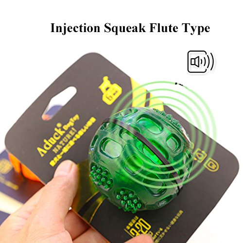 Aduck-Pet-Puppy-Dog-Squeaky-Fetch-Ball-Toys-Meteorites-Bouncy-Series-Bite-Resistant-Squeeze-Chew-Toy-for-Aggressive-Chewers-Non-Toxic-Soft-Rubber-Cute-Crystal-Ball-Design-Crystal-Green