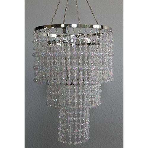Long chandeliers amazon 155 long acrylic beaded chandelier clear great idea for wedding chandeliers centerpieces decorations and any event party dcor aloadofball Choice Image
