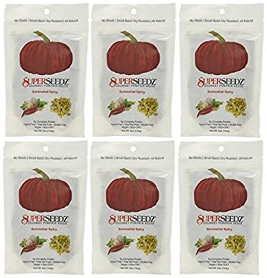 Superseedz Somewhat Spicy Pumpkin Seeds - 5 oz, Package of 6