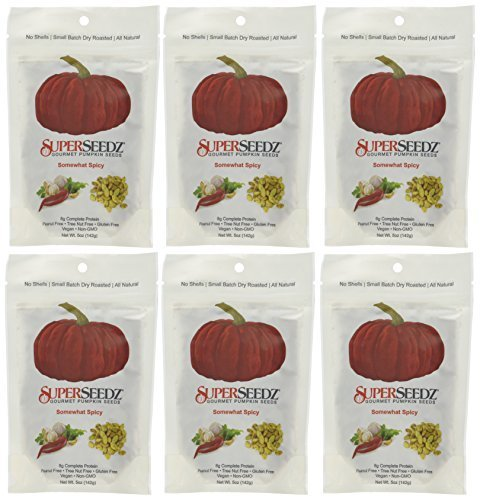 Super Seedz Seed Pumpkin Somewhat Spicy 5 Ounce - Pack of 2 made in New England