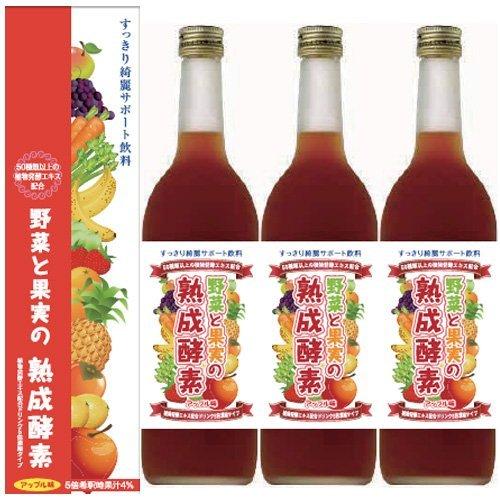 【3本パック】野菜と果実の熟成酵素720ml B00DDKGYYK