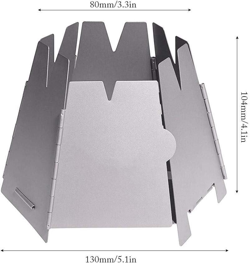 smilerr Po/êle /à Bois Pliable portatif Trusted po/êle /à l/épreuve du Vent en Acier Inoxydable pour /équipement de Survie pour Le Camping ext/érieur 130 x 104 mm