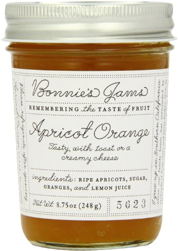Bonnie's Jams, Apricot Orange, 8.75 Ounce made in New England