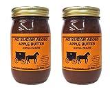 Amish Sugarfree Apple Butter - Always Fresh - 16 Oz Jar Ing: Apples, Cidar & Spices