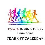 12-week Health & Fitness Countdown Tear off  Calendar