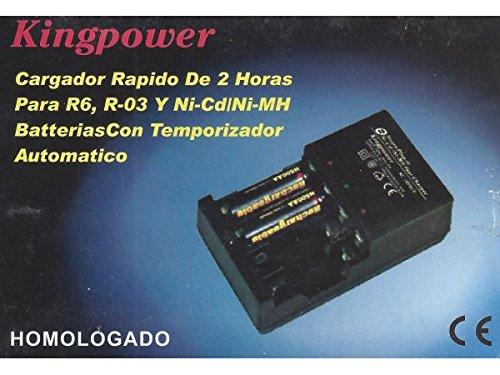 Powerking Cargador Pilas X4 Rapido con Temporizador 11x6cm ...