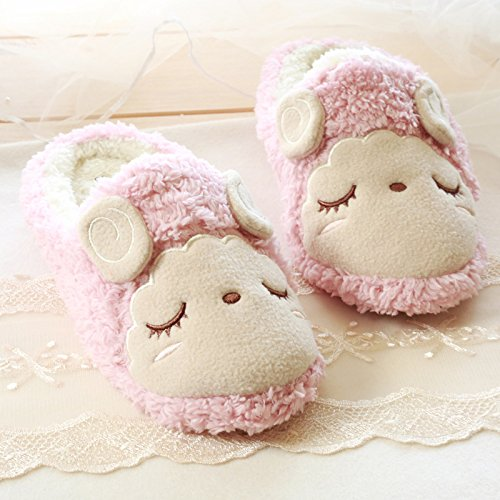 Cozy Comfy Adults Lovely Velvet Unisex House Flatform Pink Couple Slippers 2 Fleece Sheep Footwear zZxqwtaqR