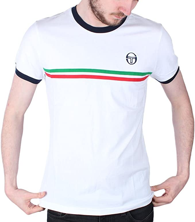 White Sergio Tacchini Men/'s Supermac 3 T-Shirt