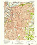YellowMaps Kansas City MO topo map, 1:24000 Scale, 7.5 X 7.5 Minute, Historical, 1957, Updated 1958, 26.9 x 22 in - Paper