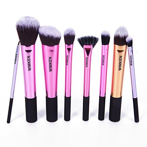 WIMKEN-8-Pcs-Pro-Powder-Cosmetic-Makeup-Brushes-Kit-Set-Foundation-Tools-Blush-Eyeshadow-Brushes-Metal-Handle