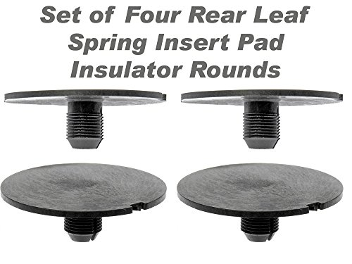 APDTY 035181 Rear Leaf Spring Plastic Insert Pad Spacer Insulator Round Set Of 4 Fits 1998-2011 Chevy GMC Trucks (Replac