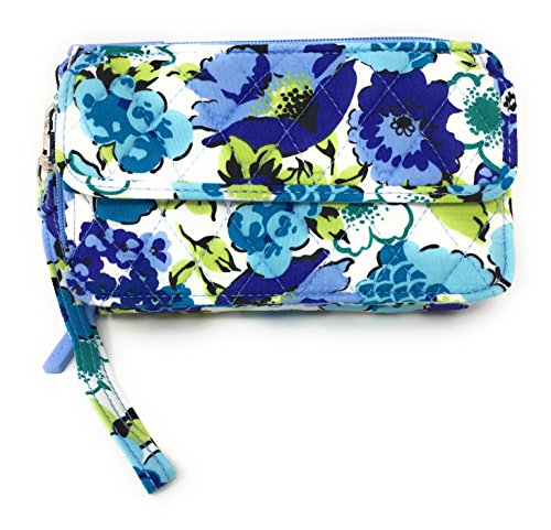 Vera Bradley All In One Cross-body Bag for iPhone 6 with Updated Solid Interiors (Blueberry Blooms with Blue Interiors) by Vera Bradley