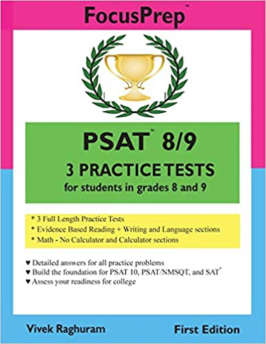 PSAT 8/9 3 Practice Tests: for students in grades 8 and 9: Vivek