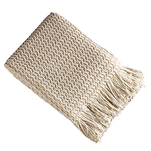 Brielle Winding Wave Throw Ivory