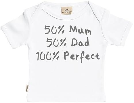 c18133699 Amazon.com: SR - Personalised 50% 50% 100% Perfect Baby T-Shirt ...