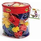 Edushape Mini Edu-Blocks Flexible Blocks, 52 Piece