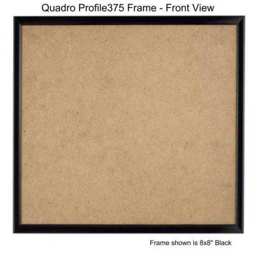 Quadroフレーム7 x 7インチ写真フレーム ブラック 4 ブラック B077GMPDVG