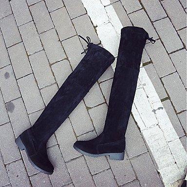 Paseo Tacón Zapatos 2'5 Bajo Ante amp;xuezi Negro 4'5 Otoño Gll Casual Black Cms Botas Formales Vestido Mujer qxtxvpz