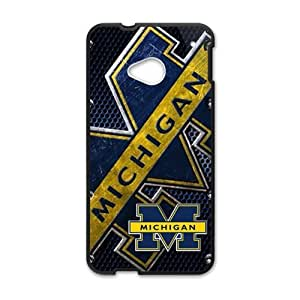 Happy University Of Michigan Wolverines Cell Phone Case for HTC One M7