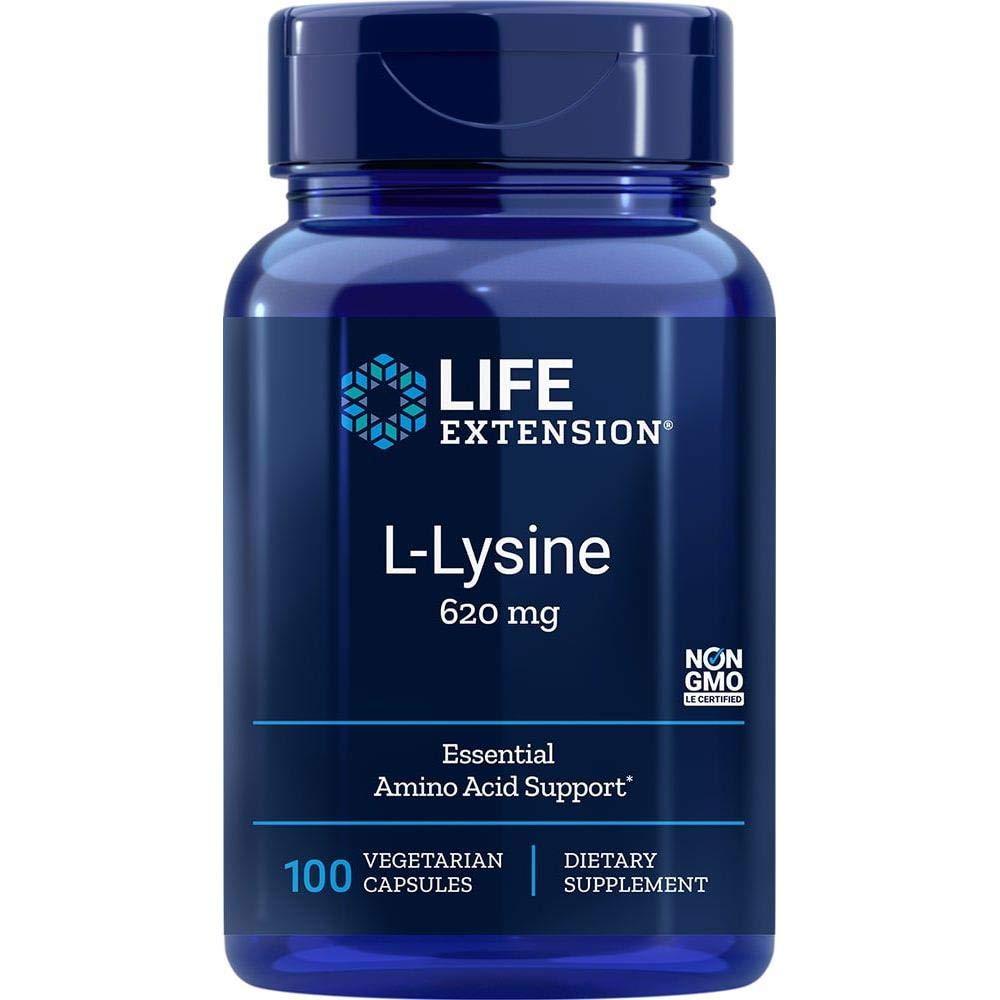 Life Extension L-Lysine 620 mg, 100 Vegetarian Caps: Health & Personal Care