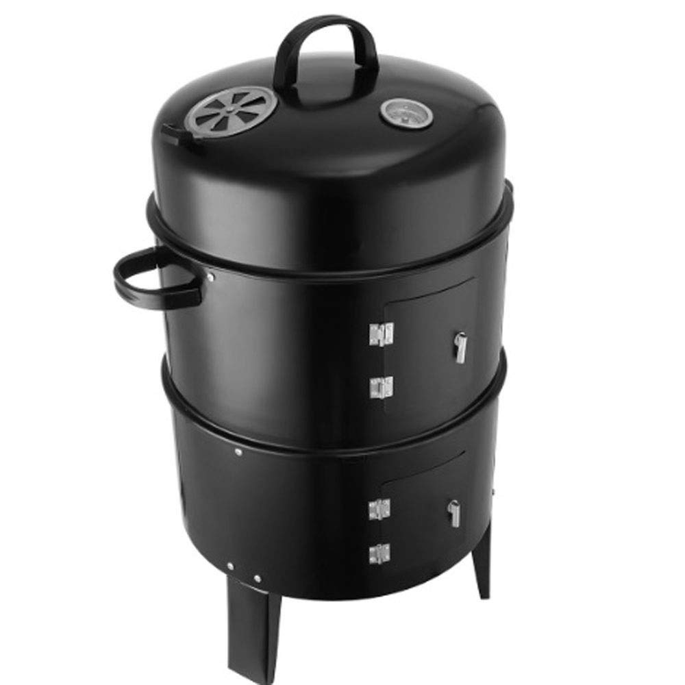 SX1560 Innovative Metal 3 in 1 BBQ Grill Roaster Steamer Barbecue Grill Portable Outdoor Camping Charcoal Stove Grill
