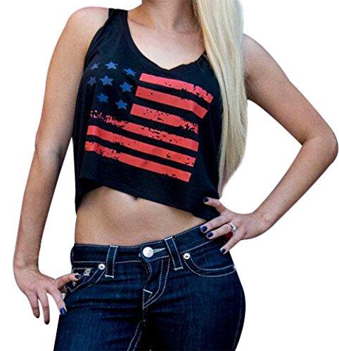 71bb1f4256 ... JINTING 4 of July Crop Top Patriotic Crop Top USA Flag Crop Tops for  Women Junior