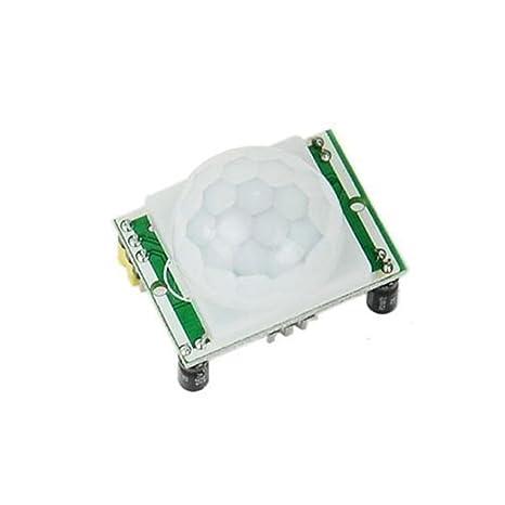 HC-SR501 Peque/ño m/ódulo de sensor PIR Detecci/ón de movimiento de cuerpo infrarrojo piroel/éctrico Bobury