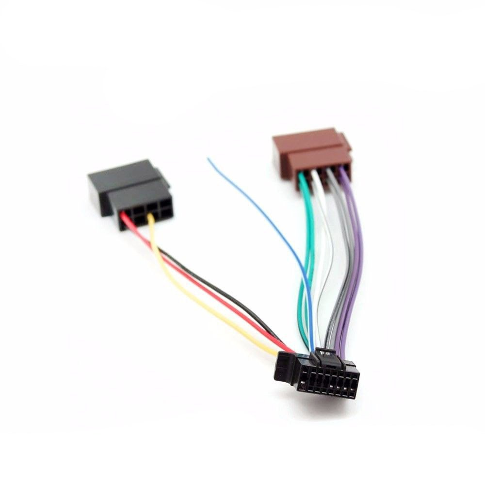 Amazon.com: Sony New 16 Pin to ISO Lead Wiring Loom Power Adaptor Wire  Radio Connector: Automotive